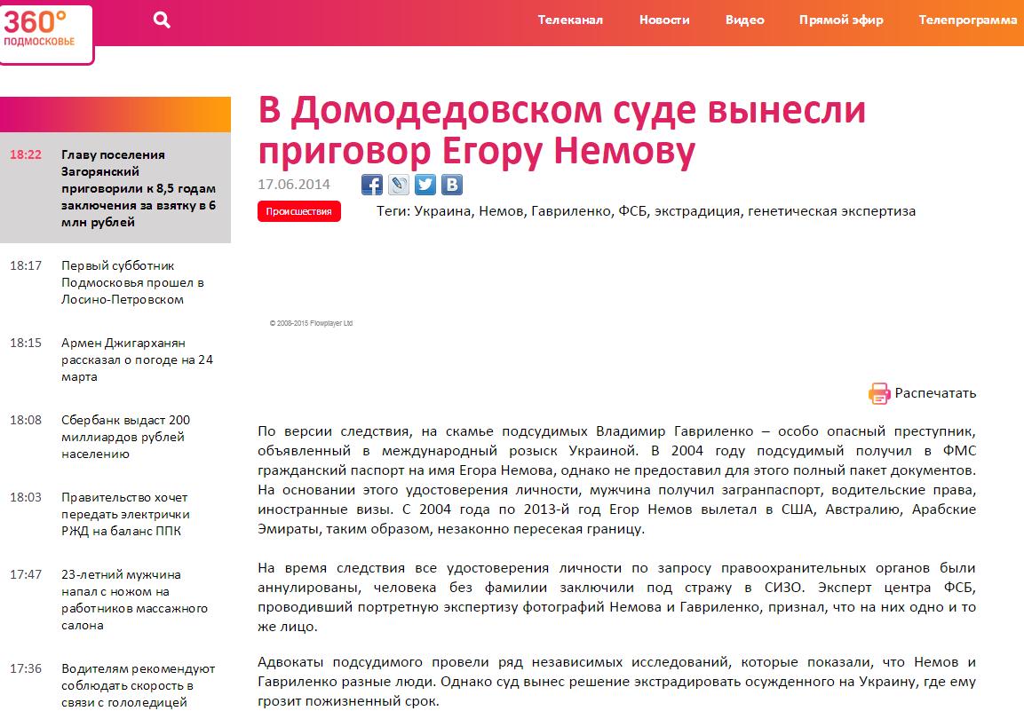 Эхо Москвы Егор Немов